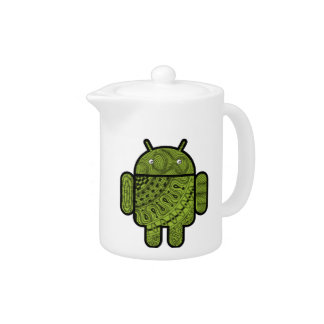 Pancho Doodle Character for Android™ robot Teapot