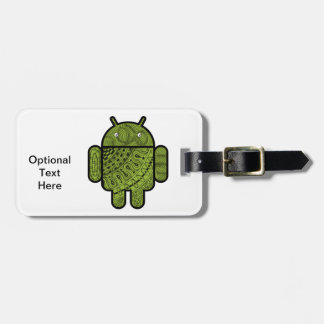 Pancho Doodle Character for the Android™ robot Bag Tag