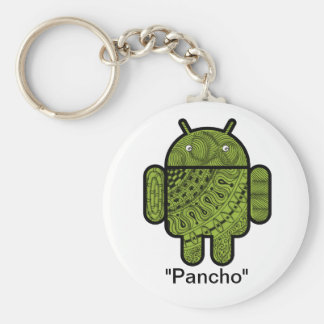 Pancho Doodle Character for the Android™ robot Basic Round Button Keychain