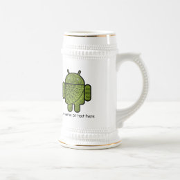 Pancho Doodle Character for the Android™ robot Beer Stein