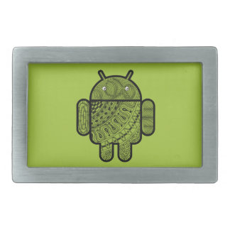 Pancho Doodle Character for the Android™ robot Belt Buckle