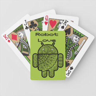 Pancho Doodle Character for the Android™ robot Bicycle Playing Cards