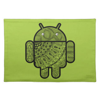 Pancho Doodle Character for the Android™ robot Cloth Placemat