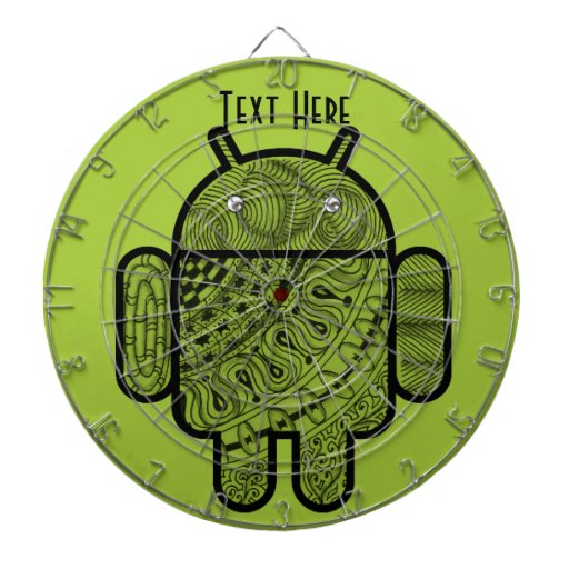 Pancho Doodle Character for the Android™ robot Dartboard