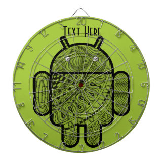 Pancho Doodle Character for the Android™ robot Dartboard With Darts