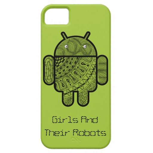 Pancho Doodle Character for the Android™ robot iPhone 5 Covers