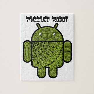 Pancho Doodle Character for the Android™ robot Jigsaw Puzzle