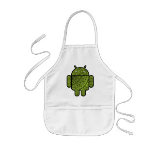 Pancho Doodle Character for the Android™ robot Kids' Apron