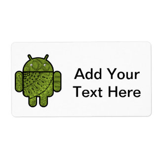 Pancho Doodle Character for the Android™ robot Personalized Shipping Labels