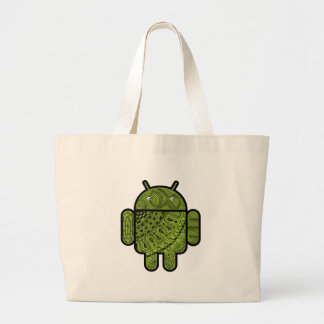 Pancho Doodle Character for the Android™ robot Large Tote Bag