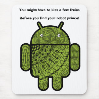 Pancho Doodle Character for the Android™ robot Mouse Pad