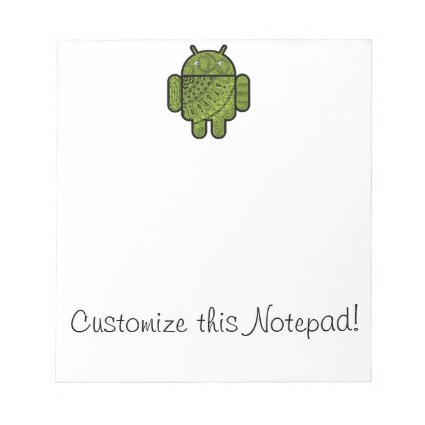 Pancho Doodle Character for the Android™ robot Notepads