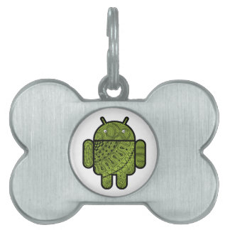Pancho Doodle Character for the Android™ robot Pet Name Tag