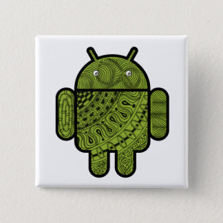 Pancho Doodle Character for the Android™ robot Pinback Button