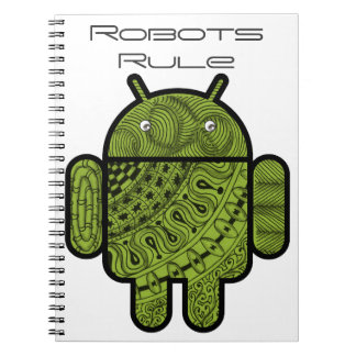 Pancho Doodle Character for the Android™ robot Spiral Notebook