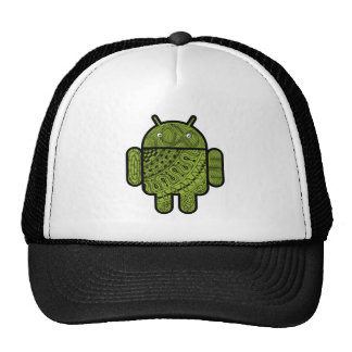 Pancho Doodle Character for the Android™ robot Trucker Hat