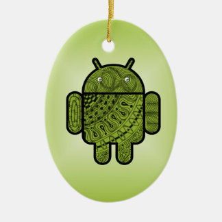 Pancho Doodle for Android™ Ceramic Ornament