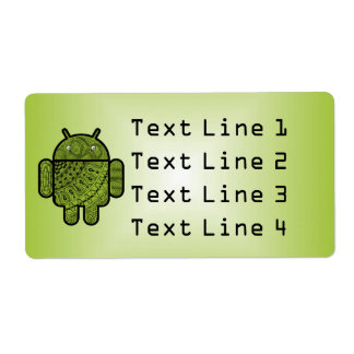 Pancho Doodle for Android™ Personalized Shipping Labels