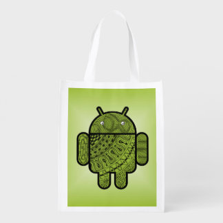 Pancho Doodle for Android™ Reusable Grocery Bags