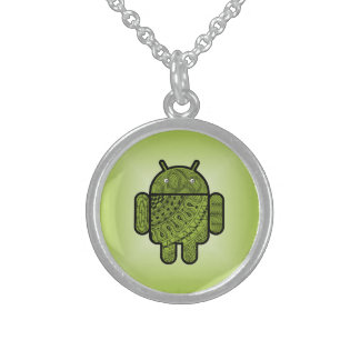 Pancho Doodle for Android™ Sterling Silver Necklace