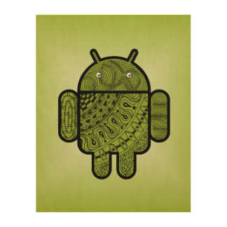 Pancho Doodle for Android™ Wood Print