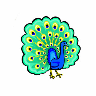 Pancho Peacock Cut Outs