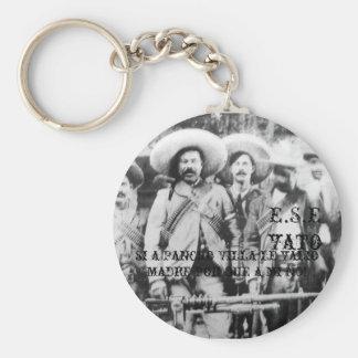pancho_villa, E.S.Evato, si a Pancho Villa le v... Basic Round Button Keychain