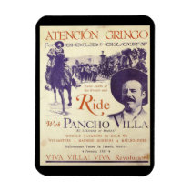 Pancho Villa Mexican General Cowboy Outlaw Magnet
