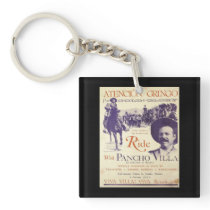 Pancho Villa Mexican Hero General Keychain