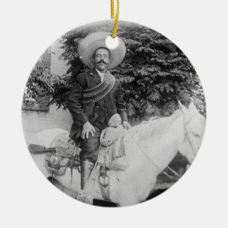 Pancho Villa Mexican Revolutionary General Ceramic Ornament