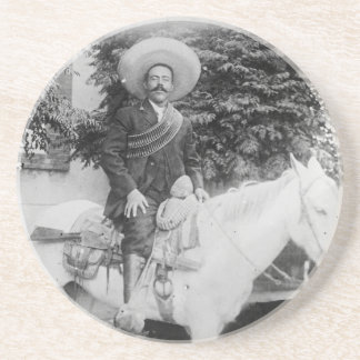 Pancho Villa Mexican Revolutionary General Sandstone Coaster