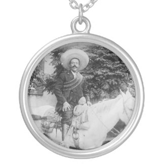 Pancho Villa Mexican Revolutionary General Silver Plated Necklace