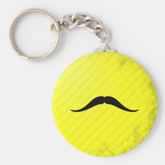 Pancho Villa Mustache Basic Round Button Keychain