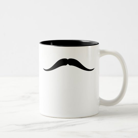 Pancho Villa Mustache Two-Tone Coffee Mug
