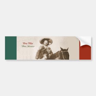Pancho Villa - pegatina para el parachoques del vi Pegatina De Parachoque