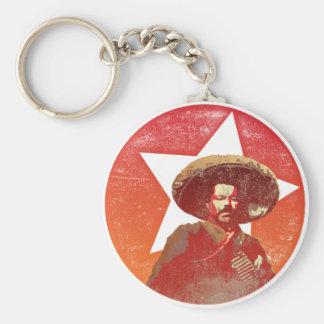Pancho Villa Vintage Red Star Basic Round Button Keychain
