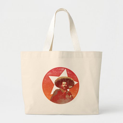 Pancho Villa Vintage Red Star Jumbo Tote Bag