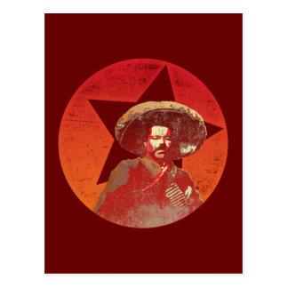 Pancho Villa Vintage Red Star Postcard