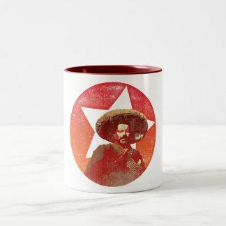 Pancho Villa Vintage Red Star Two-Tone Coffee Mug