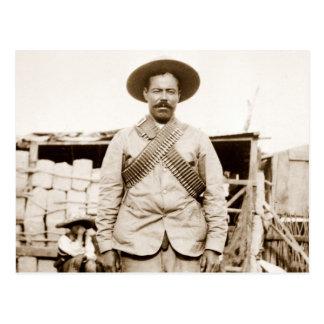Pancho Villa with bandoliers Postcard
