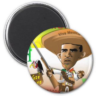 PanchObama Vote Here Fridge Magnets