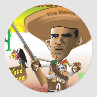 PanchObama Vote Here Stickers