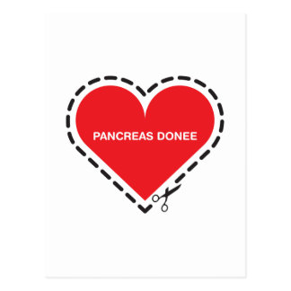 Pancreas Donee 'Get well soon' Postcard