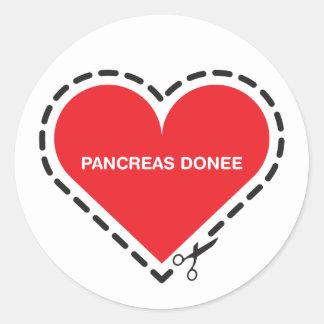 Pancreas Donee Sticker