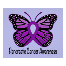 Pancreatic Awareness Butterfly of Hope Poster