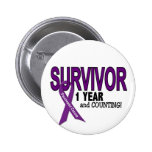 Pancreatic Cancer 1 YEAR SURVIVOR Pinback Buttons