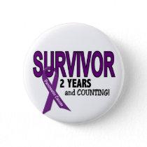 Pancreatic Cancer 2 YEAR SURVIVOR Button