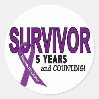 Pancreatic Cancer 5 YEAR SURVIVOR Classic Round Sticker