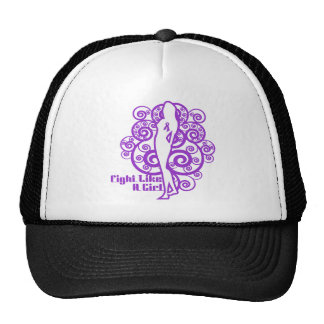 Pancreatic Cancer Abstract Fight Like a Girl Trucker Hats