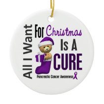 Pancreatic Cancer All I Want Christmas Ornaments